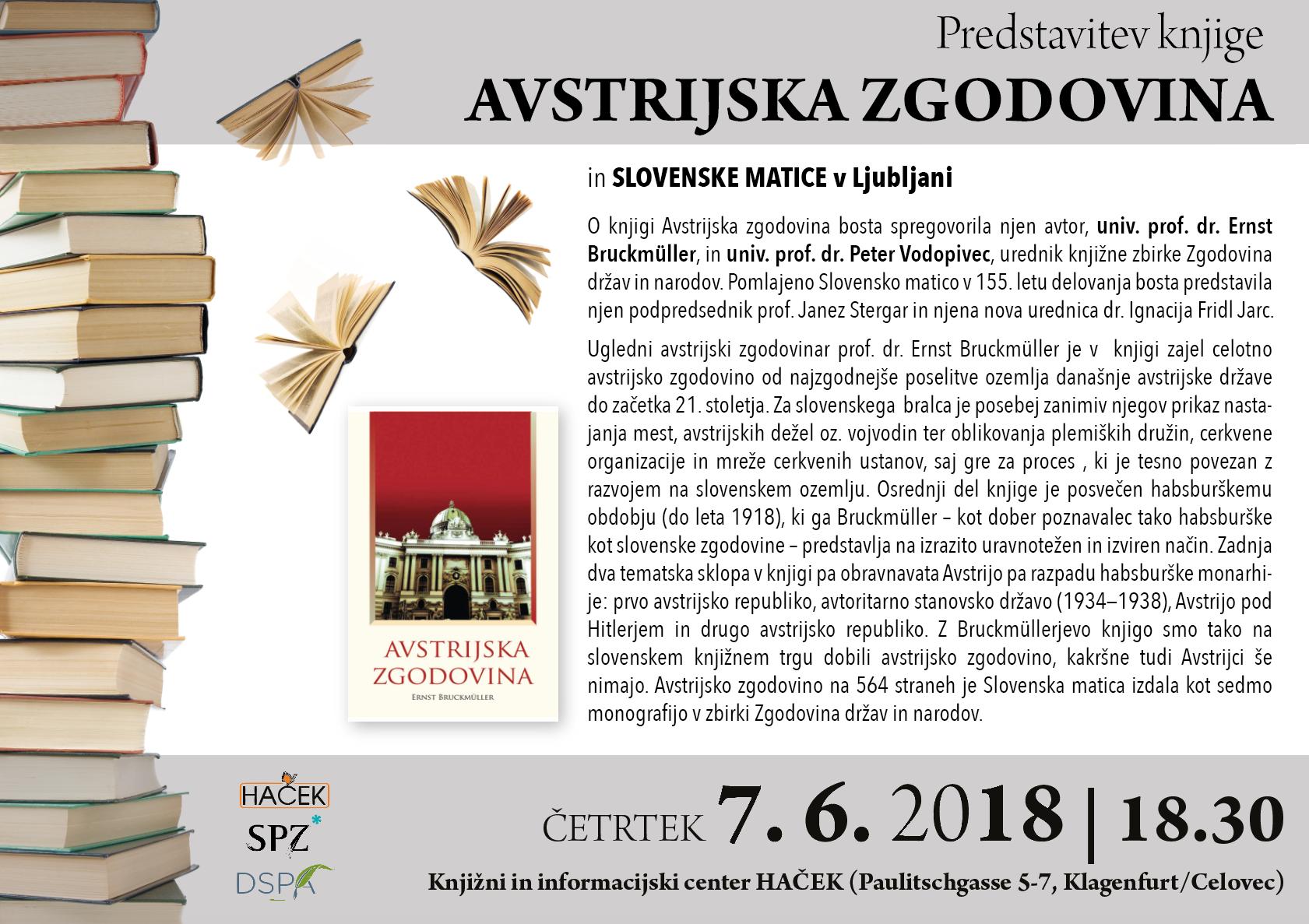 """Predstavitev knjige """"Avstrijska zgodovina"""""""