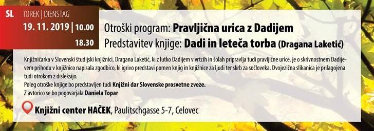 Dragana Laketić: Pravljična urica z Dadijem / Märchenstunde mit Dadi
