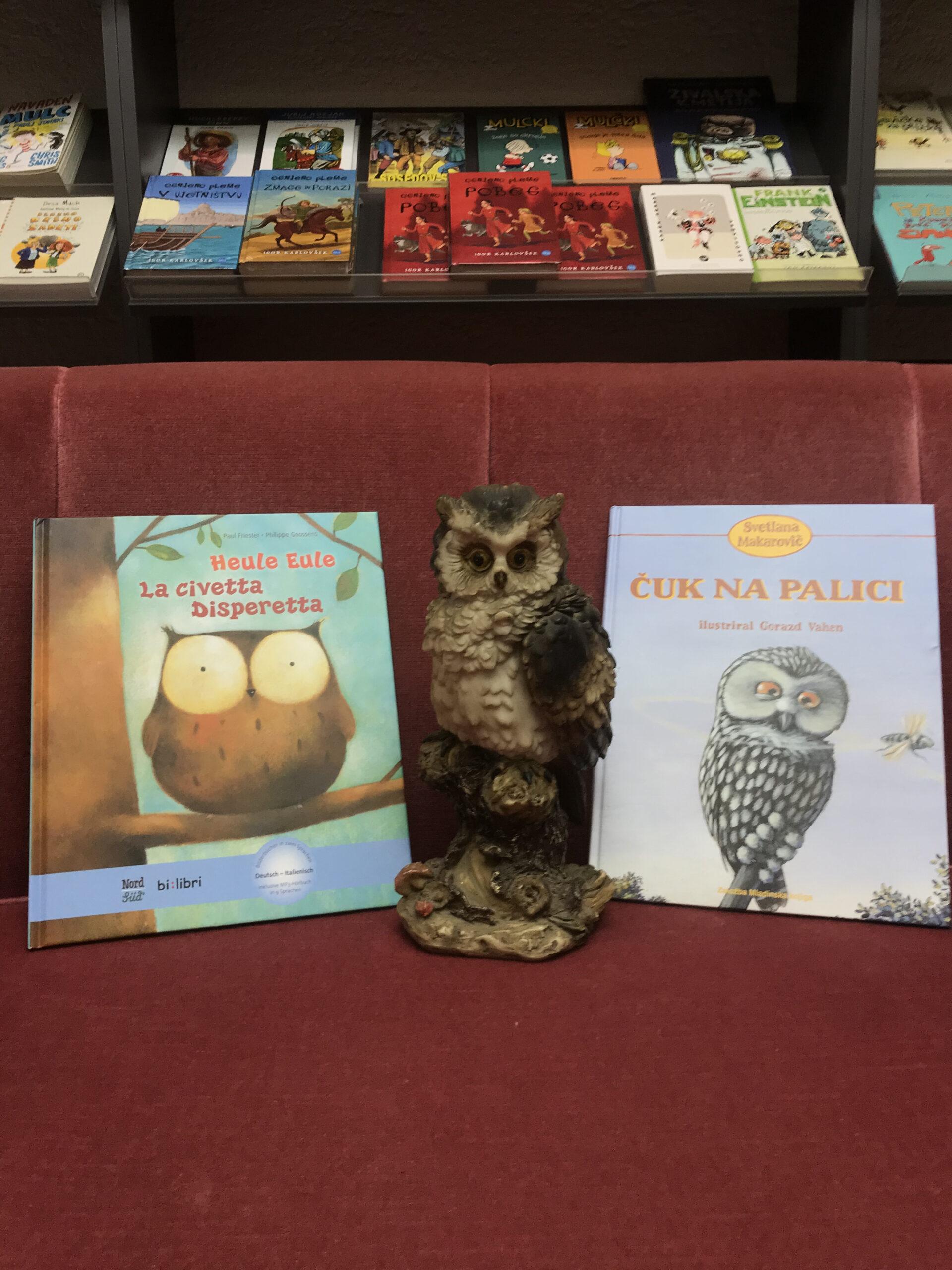 🦉Sova v naši knjigarni govori tri jezike/ Die Eule in unserer Buchhandlung spricht drei Sprachen🦉