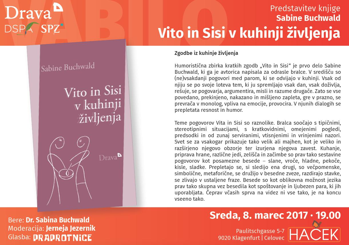 """Sabine Buchwald """"Vito in Sisi v kuhinji življenja"""""""