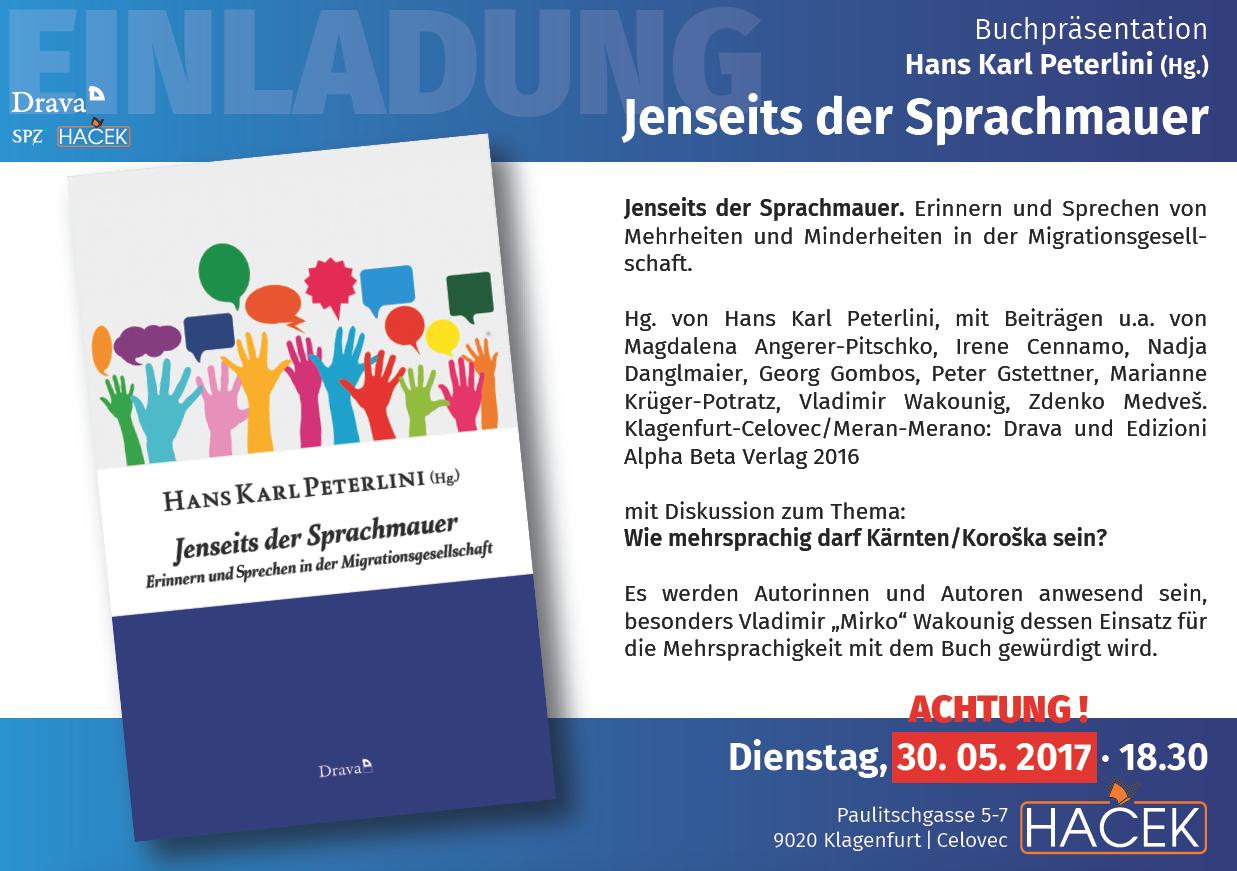 Hans Karl Peterlini (Hg.) : Jenseits der Sprachmauer