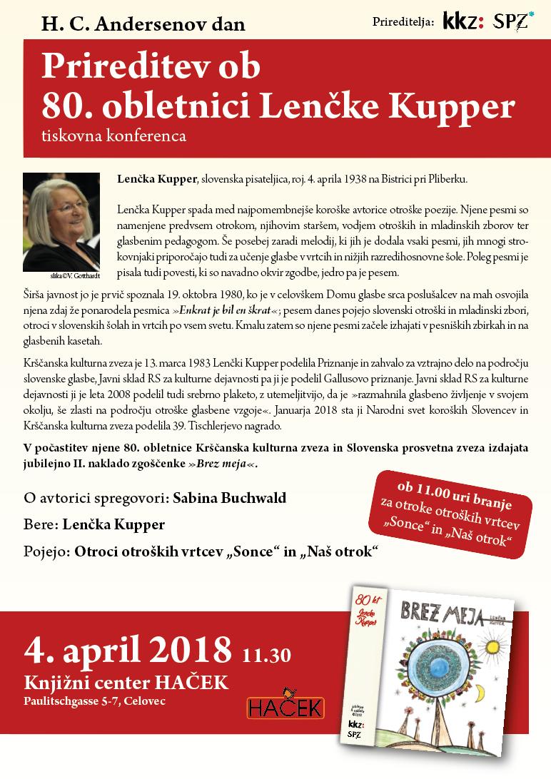 Prireditev ob 80.obletnici Lenčke Kupper