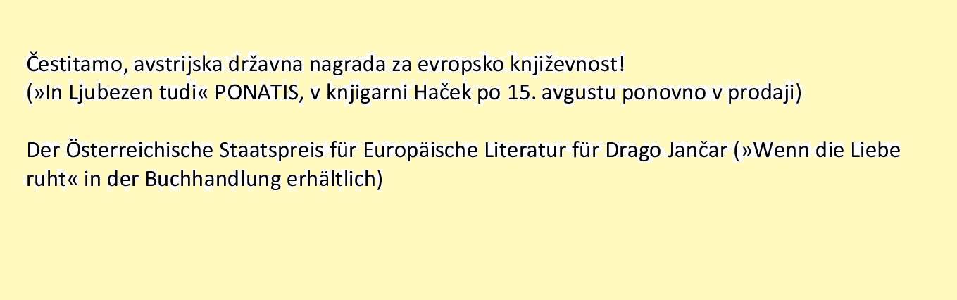 Drago Jančar: In ljubezen tudi / Wenn die Liebe ruht