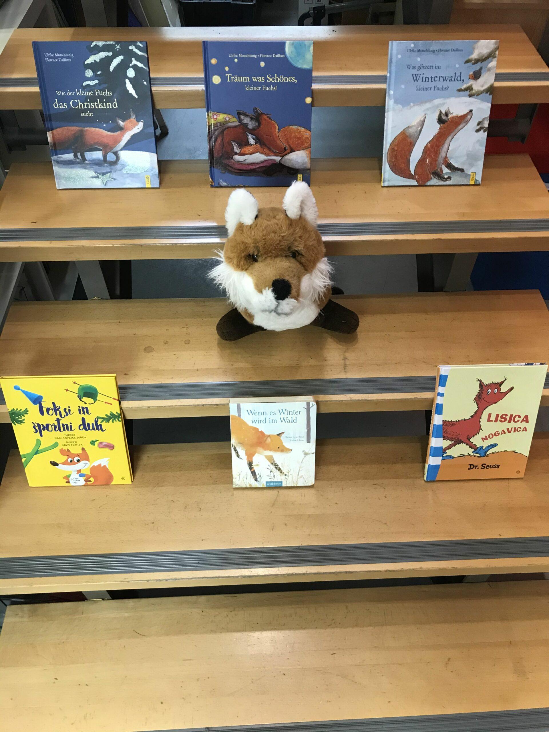 🦊Lisica se je priplazila v knjigarno/ Ein Fuchs hat sich in die Buchhandlung geschlichen🦊